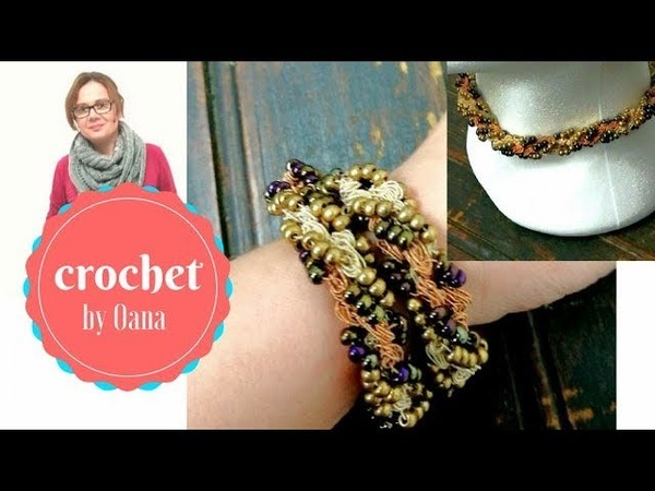 Crochet 2 in 1 neckalce bracelete by Oana