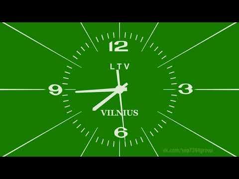 Реконструкция часов LTV Литва 1991