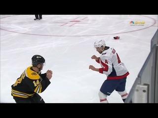 Chris Wagner VS Brenden Dillon  fight Washington Capitals at Boston Bruins