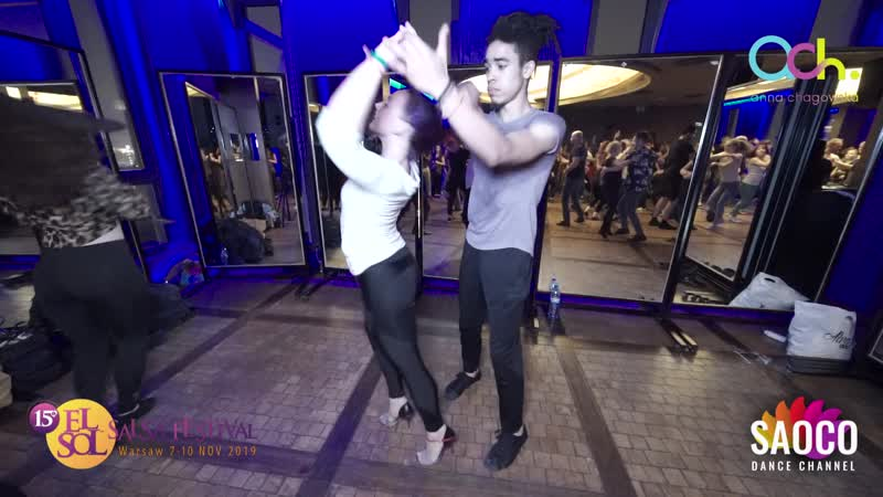 Yaims Czyeven and Alexia Jockers Salsa Dancing at El Sol Warsaw Salsa Festival 2019 Sunday 10 11 2019