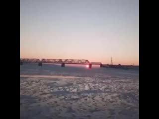 Рассвет в Ульяновске. Императорский мост