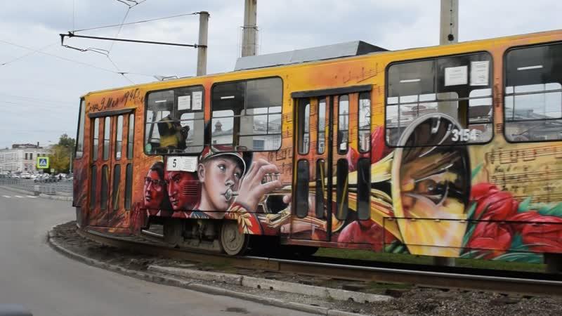 Трамвай Tatra T6B5SU 3154 в тематическом окрасе