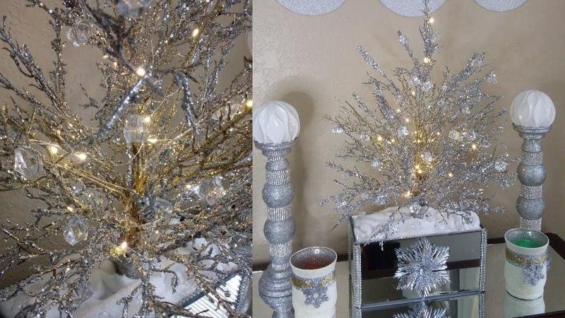 Dollar Tree DIY Glam Christmas Decor DIY| DIY Crystal Christmas Tree