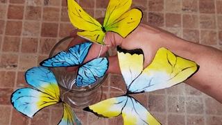 Дети подумали что они живые Очень красивый декор для торта Бабочки