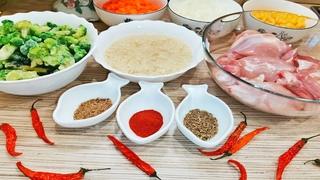 Вместо надоевшего ПЛОВА может быть ЧИЛИЙСКИЙ ПЛОВ с КУРИЦЕЙ. Ужин на скорую руку!#кулинарныйчеллендж