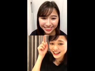Tamai Shiori (Momoiro Clover Z)  Ohara Sakurako - Instagram Live (20200505)