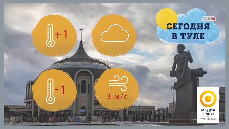 В Тульской области 26 ноября информация об осадках