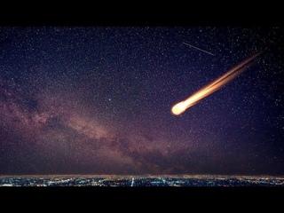 Момент падения 10-тонного метеорита в Китае.