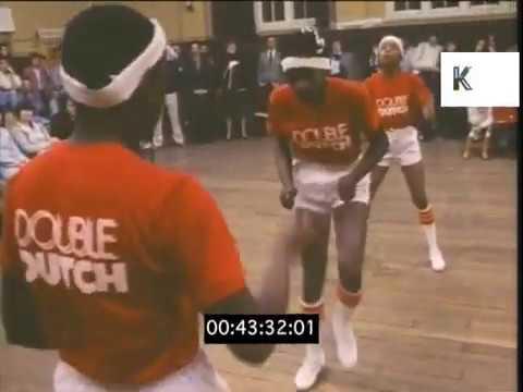 1970s 1980s UK American Double Dutch Team Jump Rope Skipping