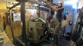 УЗТС 654: Как разобрать станок в гараже, если детали весят около тонны?