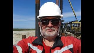 Забивка свай на участке  Факельное хозяйство 005. Кондинское нефтегазовое месторождение.