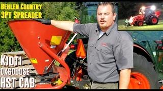 Behlen Country - 3 Pt Fertilizer & Seed Spreader with Kioti DK6010SE HST Cab