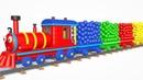 мультик - Весёлый паровозик - Учим цвета для самых маленьких - Все серии подряд - Паровозик Олли