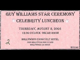 Guy Williams Hollywood Walk of Fame Star Ceremony - Celebrity Luncheon - August 2, 2001