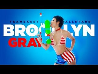 Brooklyn Gray - A Naughty 4th Of July [2021, Teen, Big Ass, Blowjob, Hardcore, All Sex, 1080p HD]