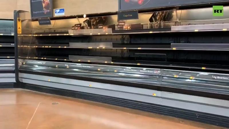 Полки супермаркета Хьюстоне штат Техас