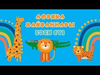 БӘБИ СҮЗ: Африка хайваннары / Животные Африки