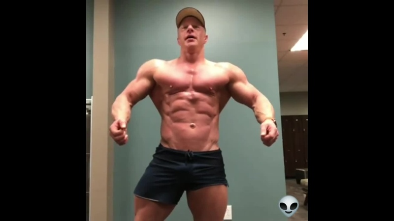 Pure dedicated and shredded 42 year old bodybuilder