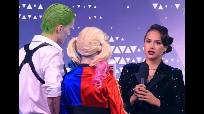 Даня Милохин и Женя Медведева после выступления