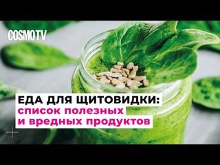 Cosmo TV: Список самых полезных и вредных продуктов для щитовидки