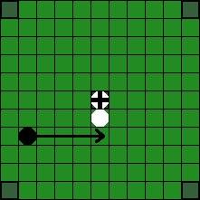 Хнефатафл (тавлеи) -  Возможные способы «срубания» фигуры противника (5)