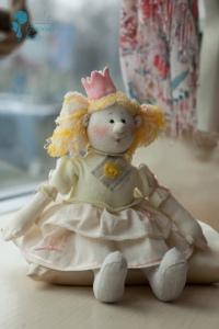 Принцесса текстильная кукла
