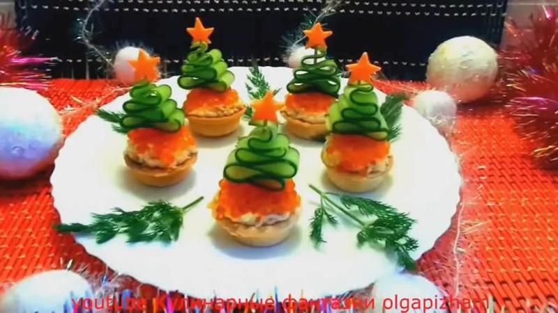 Подборка закусок на Новогодний стол