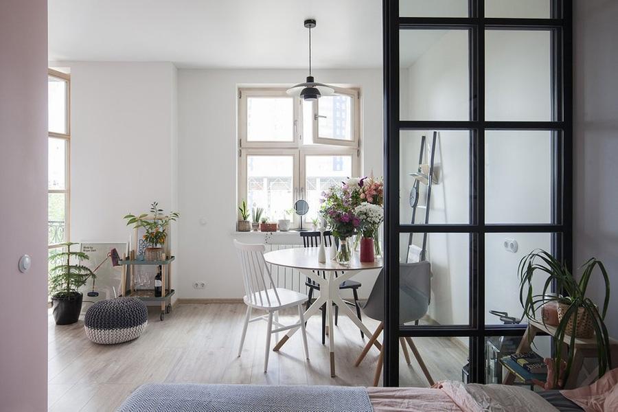 Интерьер квартиры 43 м в скандинавском стиле в Красногорске.