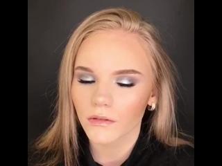 Роскошный макияж в серых тонах