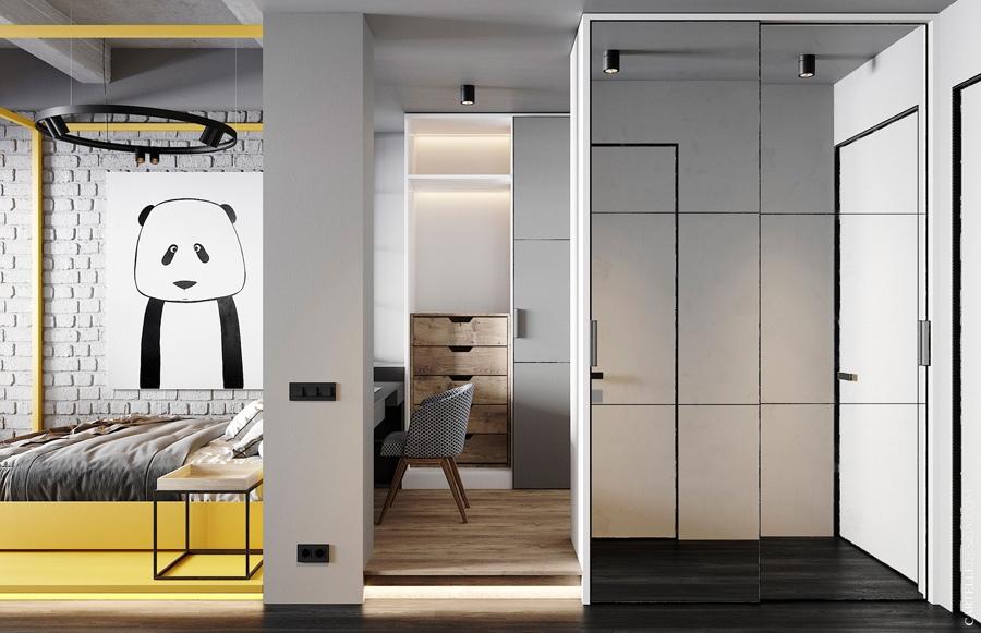 Проект апартаментов 40,6 м.
