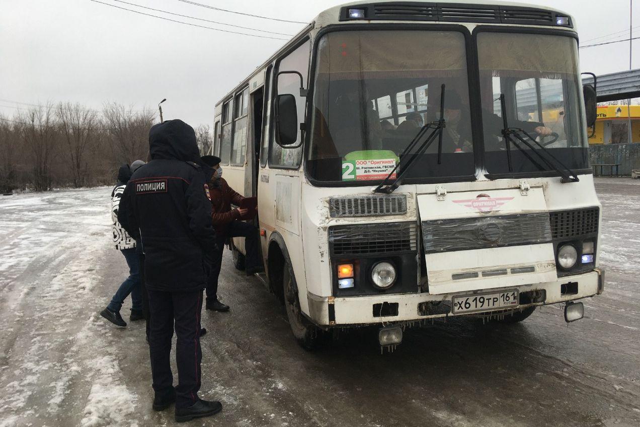 В Ростовской области проводятся рейды по соблюдению масочного режима на транспорте