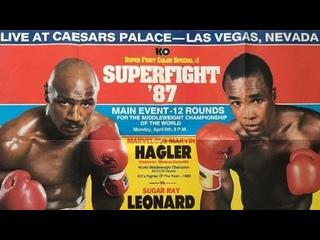 Видео боя: Марвин Хаглер - Шугар Рэй Леонард 1. Marvin Hagler vs Sugar Ray Leonard 1