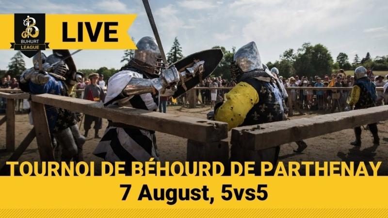 TOURNOI DE BÉHOURD DE PARTHENAY France LIVE