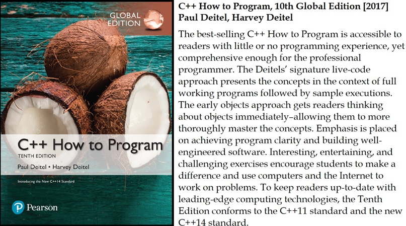 C++ How to Program, 10th Global Edition [2017] Paul Deitel, Harvey Deitel