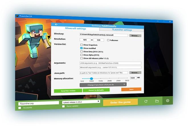 TLauncher for Minecraft screenshot #0