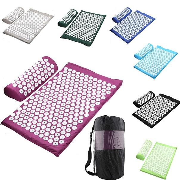 Массажная подушка, массажный коврик для йоги, акупрессура, коврик для снятия стресса, боли в спине, шип, массажный коврик