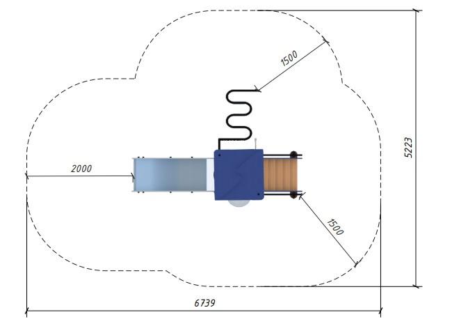 Зоны безопасности для изделия 4411 (документ доступен для скачивания в карточке товара).
