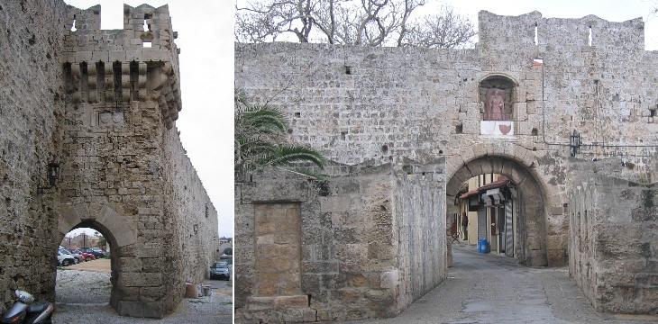 (слева) Миллс Гейт; (справа) Ворота Святого Антония