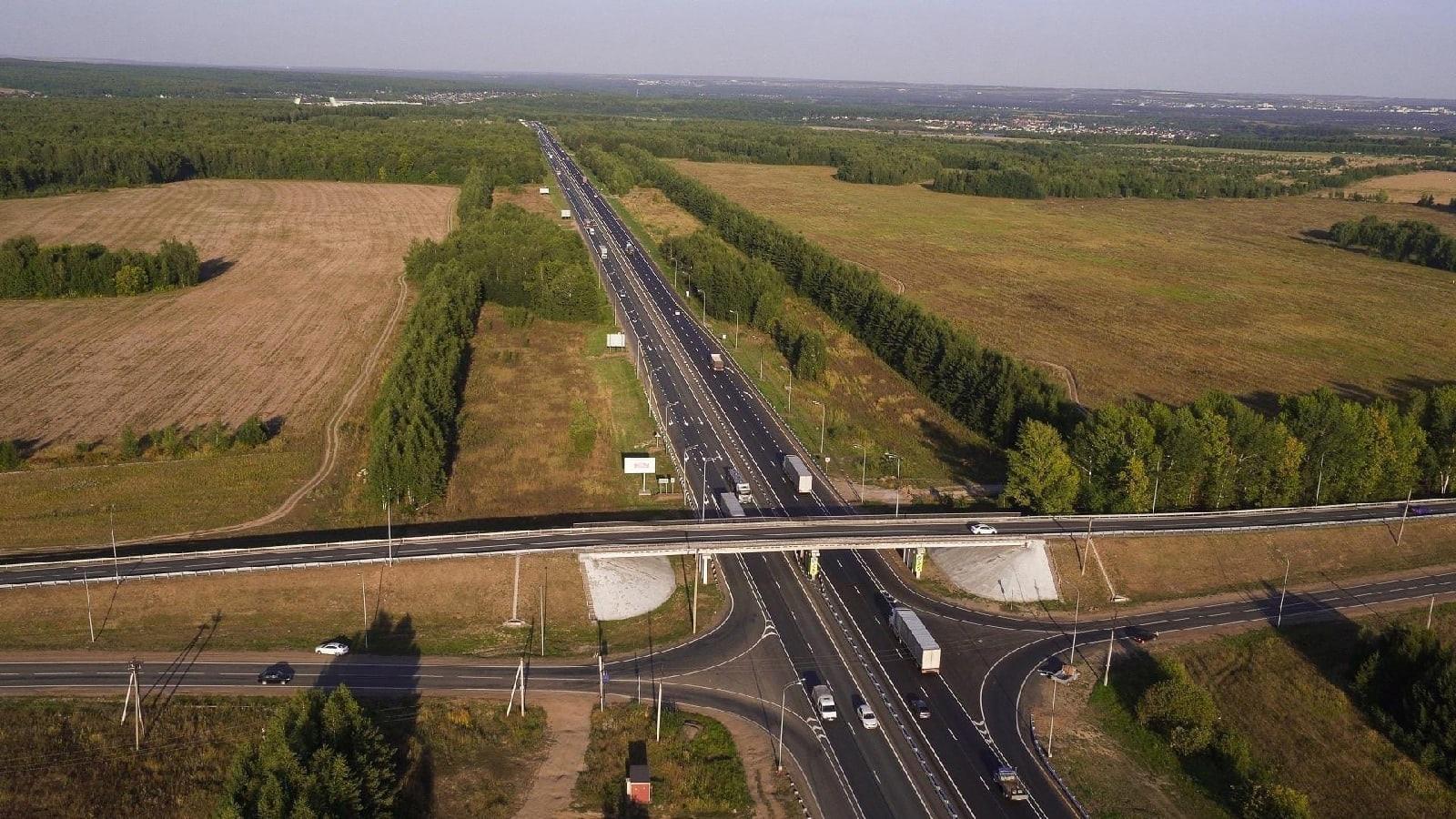 Участок трассы М-7, который проходит через Можгинский