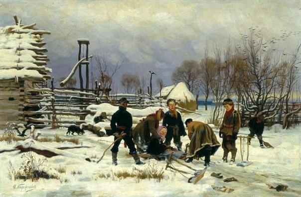 И.И. Творожников. Зимой, 1886 г.