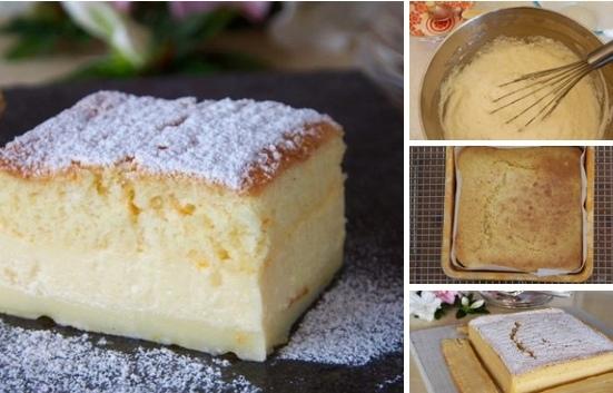 Пирог из заварного крема