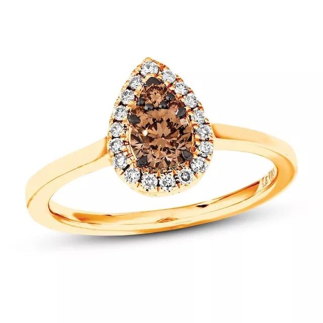 GsvAucgk1eE - Шоколадные бриллианты в обручальных кольцах - звучит мечтательно