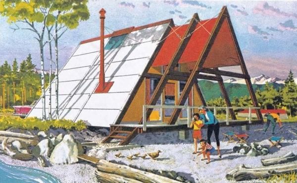 История треугольного дома-шалаша с А-образным каркасом в Америке и за ее пределами, изображение №1