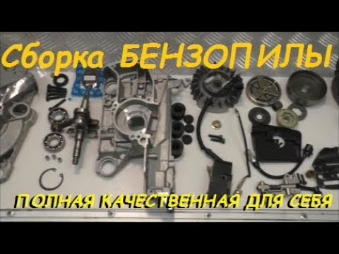 Полная сборка бензопилы ВСЕ НЮАНСЫ И ДОРАБОТКИ Complete assembly of chainsaws ALL nuances