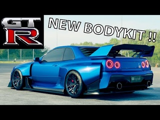Nissan Skyline R34 GTR Bodykit [STAGE2] by hycade