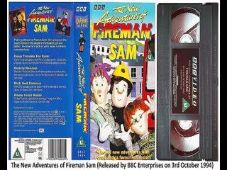 The New Adventures of Fireman Sam (BBCV 5404), Disaster for Dinner (BBCV 5625), Fireman Sam in Action (BBCV 5807) 1994-96 UK VHS