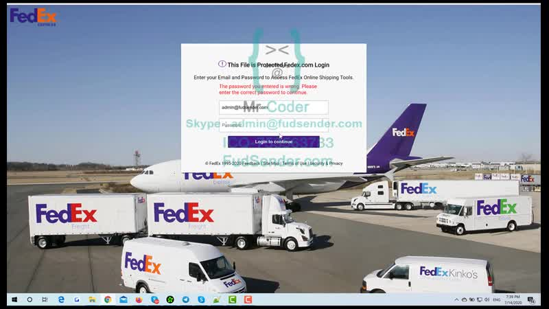 New FedEx Scam Page