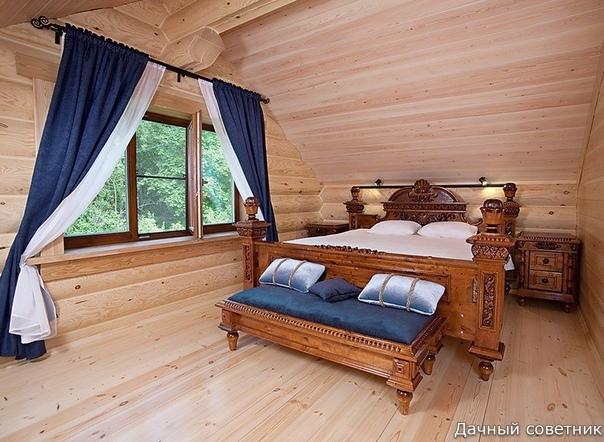 Потрясающий интерьер в деревянном доме.