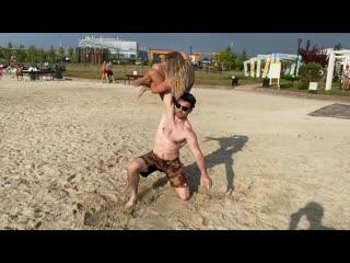 Жимов   Открытая тренировка на пляже Лазурный