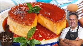 Flan de huevo y queso SIN HORNO y con un queso bajo en grasas, te doy todos los trucos.